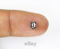 Salt And Pepper Diamond Ring 0.64 Carat Fancy Loose Polished Natural Emerald Cut