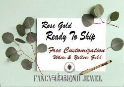 Salt And Pepper Hexagon Diamond 14K Solid Rose Gold Ring Engagement Ring KD446