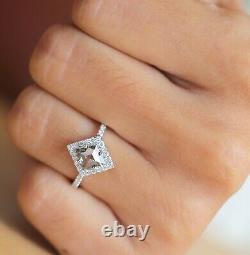 Salt And Pepper Kite Diamond 14K Solid White Gold Ring Wedding Gift Ring KD820