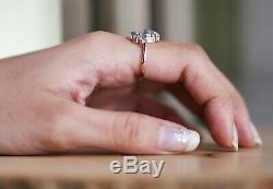 Salt And Pepper Pear Diamond 14K Solid Rose Gold Ring Wedding Ring KD583
