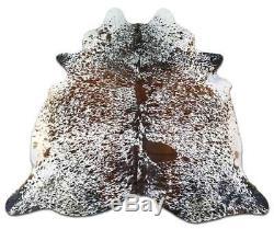 Salt & Pepper Cowhide Rug Size 7.7' X 6.5' Speckled Cowhide Rug M-464