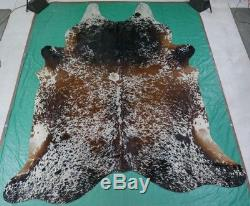 Salt & Pepper Cowhide Rug Size 8.5' X 7' HUGE Salt and Pepper Cowhide Rug M-458
