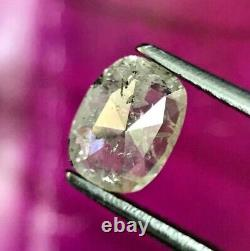 Salt Pepper Diamond Rustic Natural Diamond 0.96TCW I1 Oval Full Cut for Gift