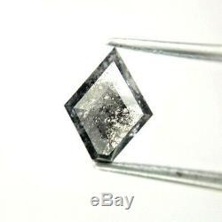 Salt Pepper Natural Diamond 1.21TCW SI1 Antique Kite Step cut for Gift