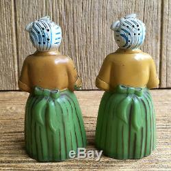 Salt & Pepper Shakers African American Luzianne Tea F&F Plastic Mold Vintage