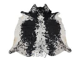 Salt and Pepper Black and White Large Cowhide Cow skin Rug (5x7) Pure Cowhides