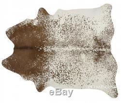 Salt and Pepper Brown Brazilian Cowhide Rug Cow Hide Area Rugs