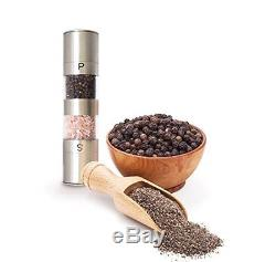 Salt and Pepper Grinder Set Mill for Sea Salts Peppercorn and Spices Better
