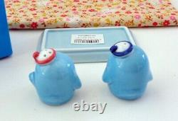 Sanrio 1998 Tuxedo Sam Ceramic Porcelain Salt & Pepper Shaker with Tray NIB