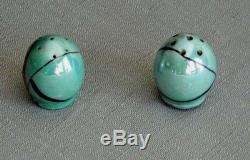 Scarce Art Deco Noritake Japan Miniature Egg Shaped Flapper Salt Pepper Shakers