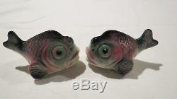 Schnapper Salt & Pepper Shakers Fish 1950's Wembley Ware West Australia Pottery