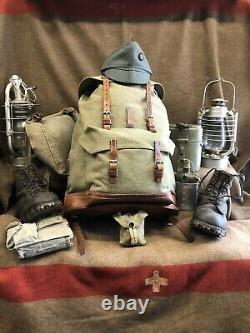 + Schweizerarmee Rucksack +Swiss Army Backpack Salt & Pepper 1968+
