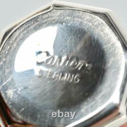Set Of (8) Cartier Sterling Silver Salt & Pepper Shakers, Marked
