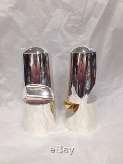 Shabi Carmel Sterling Silver Salt And Pepper Shakers Gold-accent Made In Israel
