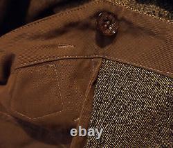 Simon James Cathcart 1930s Salt & Pepper Twill Workwear Cinch Back Pants 34/32
