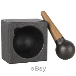 Skeppshult Cast Iron Mortar Cube & Pestle