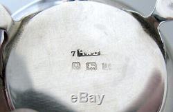 Solid Silver Cruet Set Salt Pepper Mustard Birm 1924 Henry Williamson