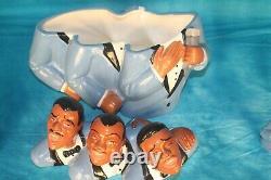 Soul Tones Jazz Singers Black Americana Cookie Jar Clay Art 1998 Salt and Pepper