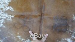 Speckled Cowhide Rug Size 8' X 6.5' HUGE Salt & Pepper Cowhide Rug M-457