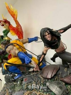 Statue SALT AND PEPPER WOLVERINE X23 1/4 ORIGINAL! No Sideshow xm studios