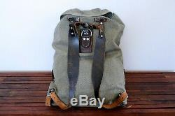 Swiss Army Military Backpack Rucksack 1958 CH Canvas Salt & Pepper 58
