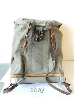 Swiss Army Military Backpack Rucksack 1962 CH Canvas Salt & Pepper Switzerland