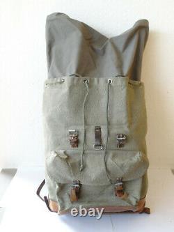 Swiss Army Military Backpack Rucksack 1966 Canvas Salt & Pepper Switzerland RAR