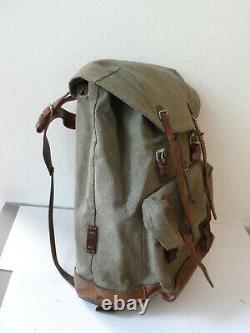 Swiss Army Military Backpack Rucksack 1969 Canvas Salt & Pepper Switzerland RAR
