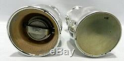 TIFFANY & CO Sterling Silver LARGE Salt & Pepper Shakers