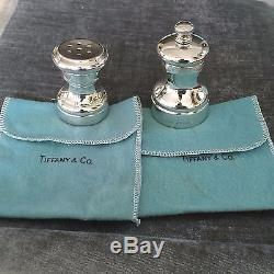 Tiffany Sterling Silver Salt Shaker & Pepper Grinder Salt Pepper Set
