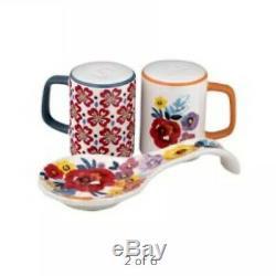 The Pioneer Woman Flea Market Stoneware Floral Spoon Rest & Salt And Pepper Set