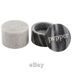 Thirstystone Marble Salt and Pepper Pinch Black/White
