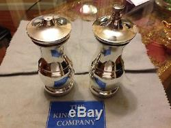 Tiffany & CO LARGE STERLING SILVER SALT AND PEPPER MILL/SHAKER