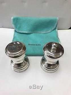 Tiffany & Co Salt and Pepper sterling Silver set Excellent Condition