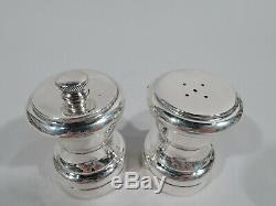Tiffany Salt & Pepper Modern Shaker Grinder Mill American Sterling Silver