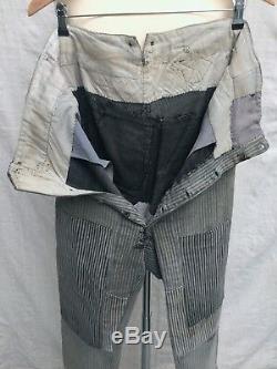 Trousers 1930's Pants Vtg French Chore Pants Vtg Patched Darned Vtg Salt Pepper