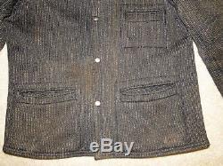 True Vintage Browns Beach Cloth Salt & Pepper Work Wear Jacket size, M