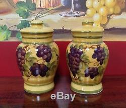 Tuscany Grape Salt and Pepper Shakers Set A. C. K. Trading Co