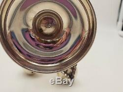 Unique Vintage Sterling Silver Stand with 6 Cherry Salt & Pepper Shakers #7381