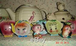 VTG ANTHROPOMORPHIC SALT PEPPER SHAKER TEA BAG EGG CUP CONDIMENT HOLDER LOT 20