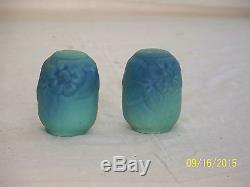 Van Briggle Art Pottery Vintage Pair of Salt & Pepper Shakers Signed & Marked