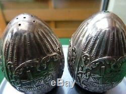 Very Rare Antique H Hooijkaas Dutch Silver Plate Salt And Pepper Shaker