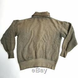 Vintage 1920s Salt & Pepper All Cotton Button Down Cardigan Sweatshirt