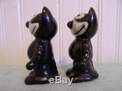 Vintage 1930'S Felix The Cat Porcelain Salt & Pepper Shakers Japan RARE NICE