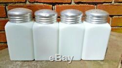 Vintage 1930's Mckee Tipp Atlas Deco Salt Pepper Sugar Flour Range Shakers