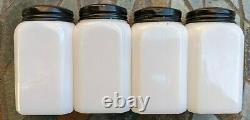 Vintage 1930's Mckee Tipp Deco Lines Salt Pepper Sugar Flour Range Shakers