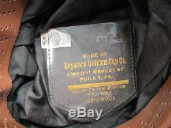 Vintage 1950s Esso Gas Service Station Attendant Cap Hat Salt&Pepper Twill 6 7/8