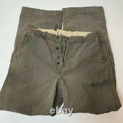 Vintage 1950s Work Pants Original Repairs 31 x 30 Salt And Pepper