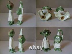 Vintage 1960's Kreiss Psycho Ceramic Salt And Pepper Shaker Pottery Rare