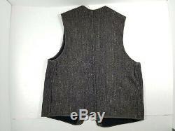 Vintage 30s/40s Brown's Beach Cloth Jacket Salt and Pepper Vest Wool Snap sz M/L